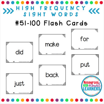Flash Cards 51-100