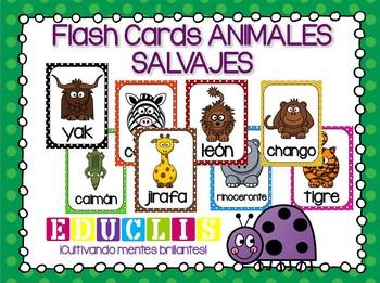 Flash Cards ANIMALES SALVAJES