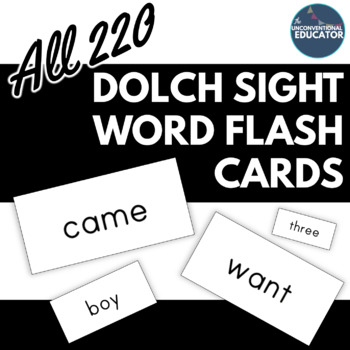 """Flash Cards- All Dolch Sight Words: Printable on Avery Labels! (#8163- 2""""x 4"""")"""