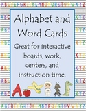 Flash Cards - Alphabet and Word Cards
