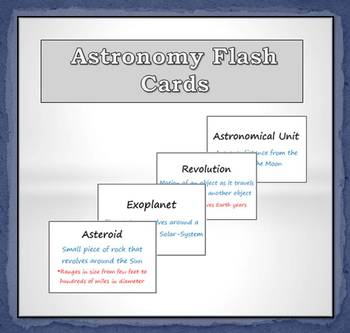 Flash Cards (Astronomy)