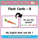 Flash Cards B: My English Book and Me Kindergarten 1