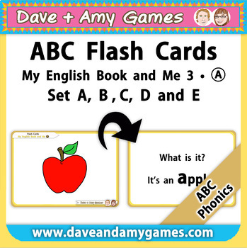 ABC Phonics Flashcards: My English Book and Me: Elementary 1: Set A B C D E