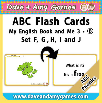 Flash Cards BIG B - ABC Phonics - My English Book and Me 3 - Set - F G H I J