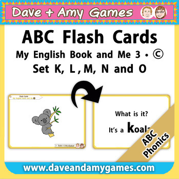 ABC Phonics Flashcards: My English Book and Me: Elementary 1:  K L M N O