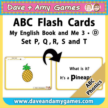 ABC Phonics Flashcards: My English Book and Me: Elementary 1:  P Q R S T