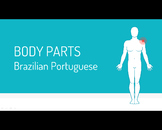 Flash Cards - Body parts in Brazilian Portuguese