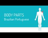 Flash Cards - Body parts in Brazilian Portuguese