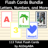 Flash Cards Bundle - Letters, Numbers, Colors, Animals, Shapes - by AllDayABA
