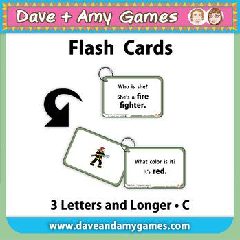 Flashcards: CVC (and longer) C