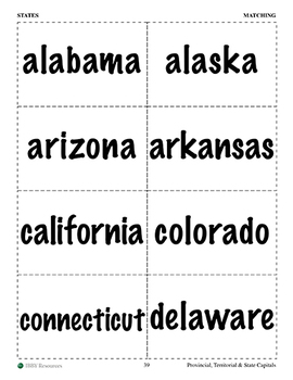 Flash Cards: COMBINED Capitals