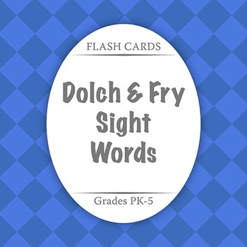 Flash Cards: COMBINED Sight Words - Bundle