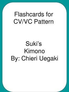 Flash Cards CV/VC Pattern Reading Street 3rd Grade Suki's Kimono