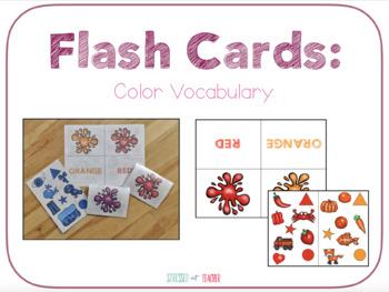 Flash Cards: Color Vocabulary