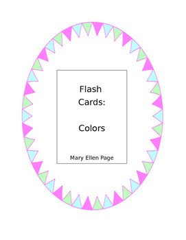 Flash Cards Colors
