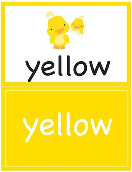 Flash Cards ~ Colors in English