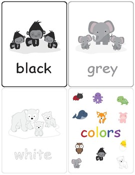 Flash Cards ~ Colors in English ~ Match Up Game