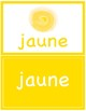 Flash Cards ~ Colors in French ~ Les Couleurs