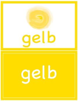 Flash Cards ~ Colors in German ~ die Farben