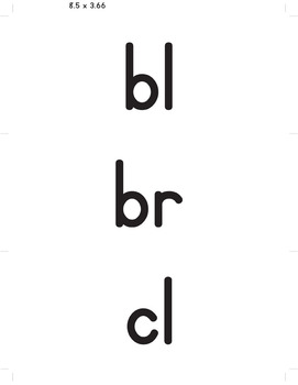 Flash Cards: Consonant Blend