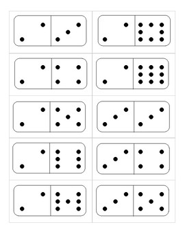 Flash Cards - Double Nine Dominoes