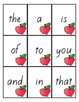 Flash Cards -Fry's 100 Sight Words