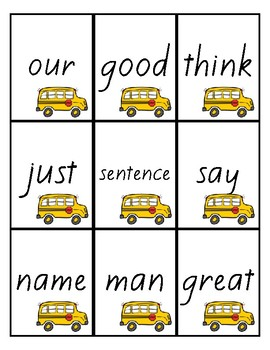 Flash Cards -Fry's 200 Sight Words