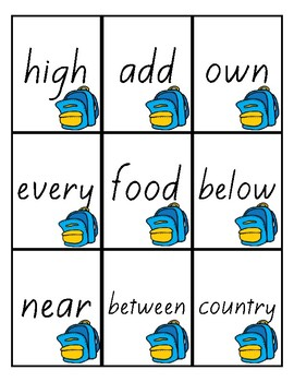 Flash Cards -Fry's 300 Sight Words