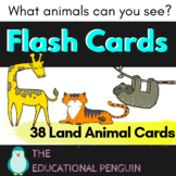 Land Animals Flash Cards