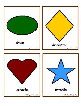 Flash Cards Las Formas (Shapes)