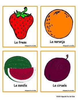 Flash Cards - Las frutas (fruits)