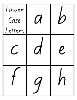 Flash Cards -Letters