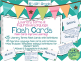 Flash Cards-Literary Terms, Figurative Language-Definitions, Games