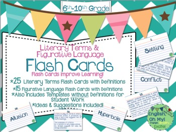 Flash Cards-Literary Terms, Figurative Language-Definition