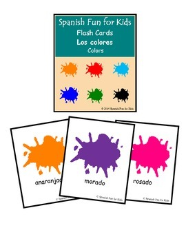 Flash Cards Los Colores (Colors)