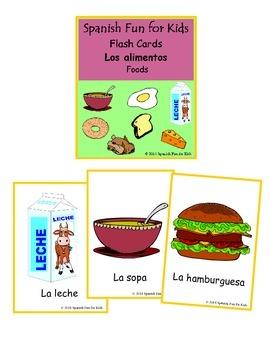 Flash Cards - Los alimentos (foods)