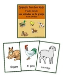 Flash Cards- Los animales de la granja (farm animals)