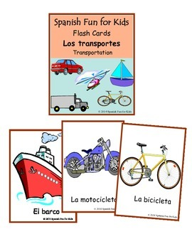 Flash Cards - Los transportes (transportation)