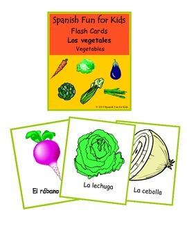 Flash Cards -Los vegetales (vegetables)
