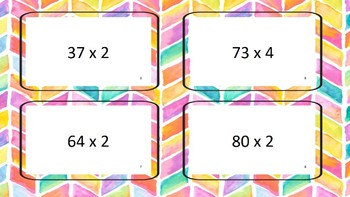 Flash Cards Multiplication 2 digit by 1 digit