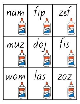 Flash Cards -Nonsense Words