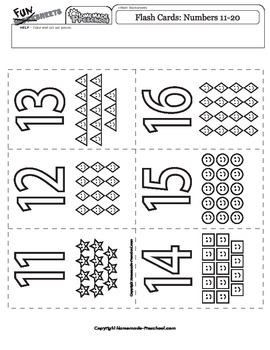 Flash Cards: Numbers 11-20