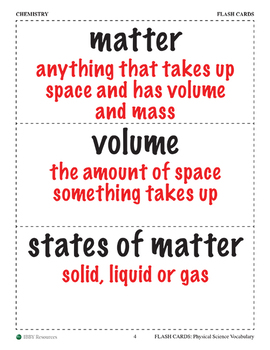 Flash Cards: Physical Science Vocabulary