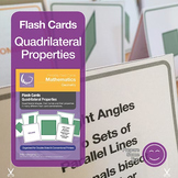 Flash Cards | Quadrilateral Properties | UK and US version