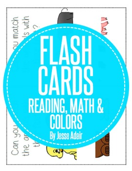 Flash Cards: Reading, Math and Colors
