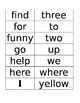 Flash Cards, Sight Words, Spelling Words, PrePrimer