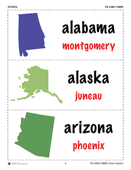 Flash Cards: State Capitals
