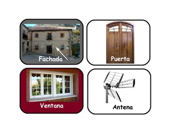 """Flash Cards about the house """"LA CASA""""  in Spanish .Around 130 cards."""