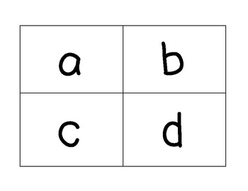 flash cards capital letters lowercase letters numbers by erin ward