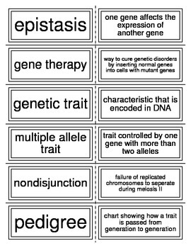 Flash Cards covering Genetics and Biotechnology
